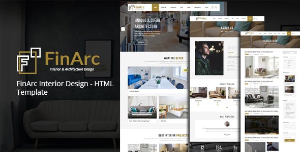 FinArc Interior Design - HTML Template nulled theme download