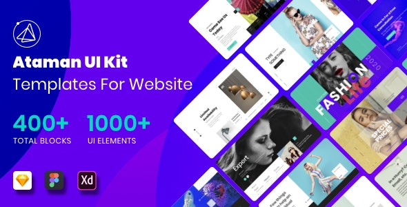 Ataman UI Kit - Templates For Website by tonytranstore