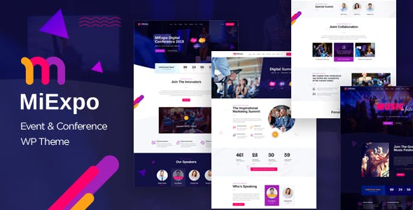 MiExpo | Event Conference WordPress Theme nulled theme download