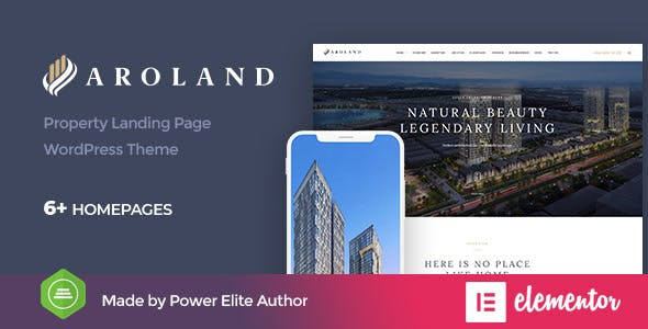 Download Aroland - Single Property Landing Page WordPress Theme