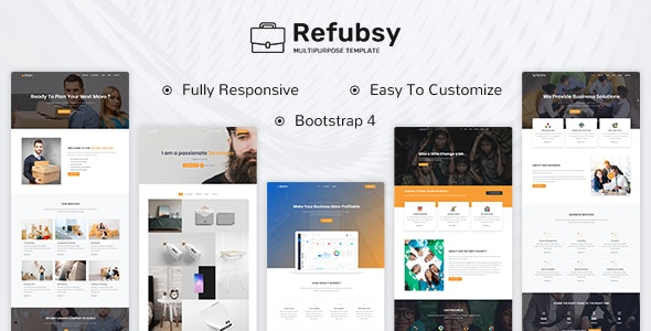Refubsy - A Responsive Multipurpose Template - Creative Site Templates