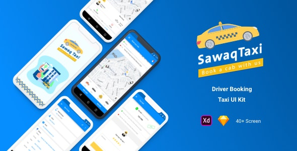 Sawaq - Taxi UI Kit - Sketch UI Templates