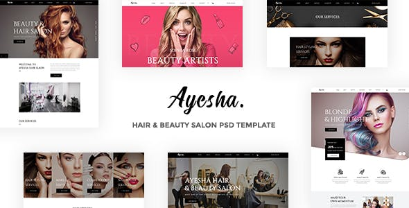 Ayesha - Hair & Beauty Salon PSD Template nulled theme download