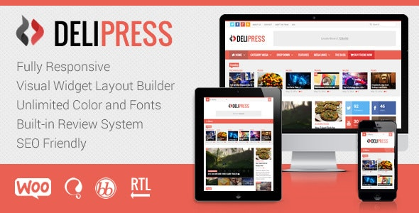 DeliPress - Magazine and Review WordPress Theme - News / Editorial Blog / Magazine