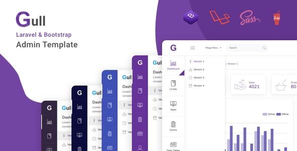 Gull - Laravel + Bootstrap Admin Dashboard Template - Admin Templates Site Templates
