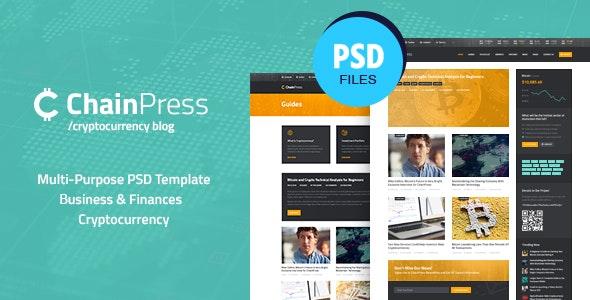 ChainPress | Financial Business Blog PSD Template - Business Corporate