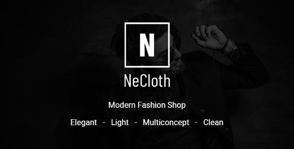 NeCloth - Multi-purpose eCommerce PSD Temlate nulled theme download