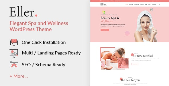 Eller -  Elegant Spa & Wellness  WordPress Theme - Health & Beauty Retail