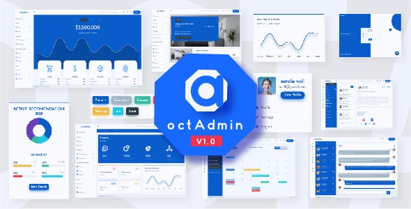 OctAdmin - Responsive Multipurpose Bootstrap 4 Admin Template - Admin Templates Site Templates