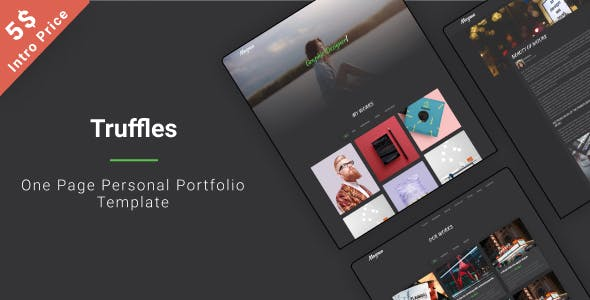 Truffles | One Page Personal Template nulled theme download
