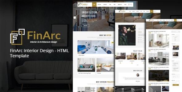 FinArc Interior Design - HTML Template - Business Corporate