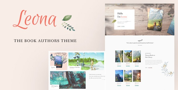 Leona - WordPress Theme for Book Writers and Authors - Corporate WordPress