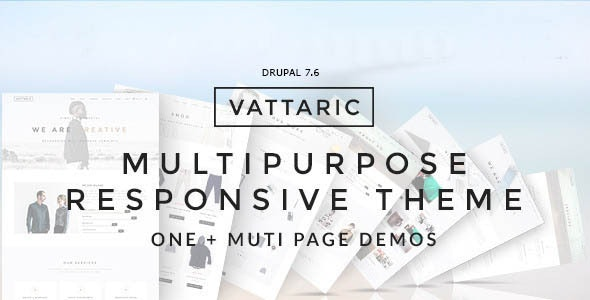 Vattaric - Multipurpose Responsive Drupal 7 Theme - Business Corporate