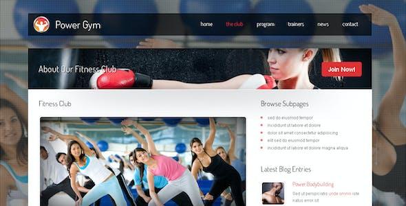 Power Gym - Responsive Wordpress Theme
