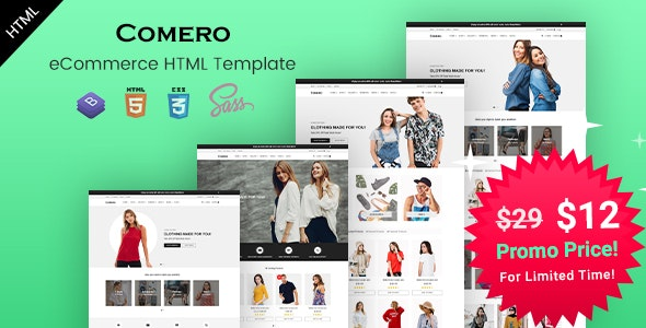 Comero - eCommerce HTML Template - Retail Site Templates