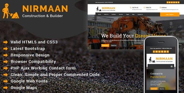 Nirmaan - Construction Company HTML Template