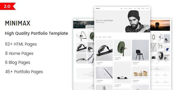 Minimax - Minimal Portfolio HTML Template - Portfolio Creative