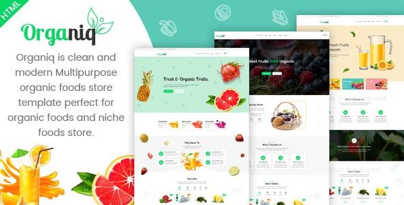 Organiq - Organic Food HTML Template - Food Retail