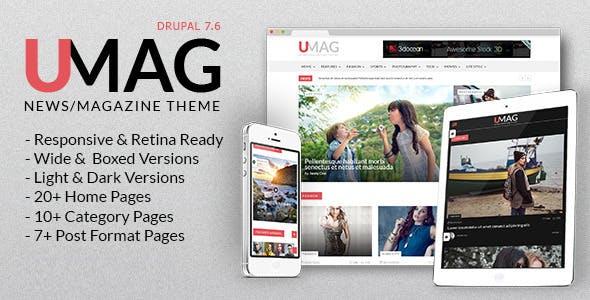 UMag - Responsive Drupal News / Magazine Drupal 7.6 Theme