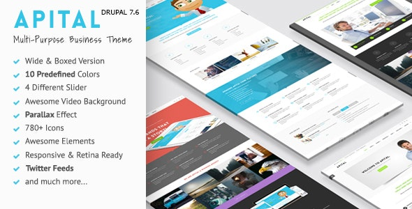 Apital - Ultra Premium Business Drupal 7 Theme - Business Corporate
