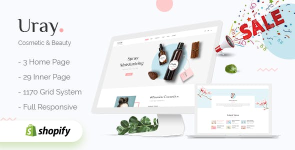 Cosmetic Shopify Themes from ThemeForest