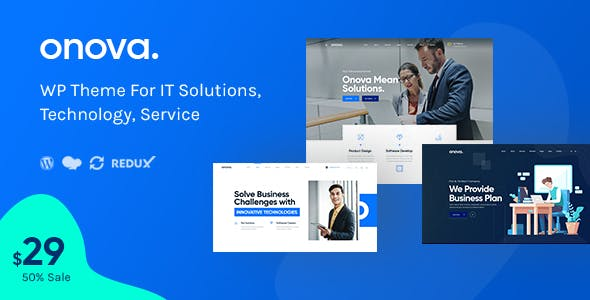 Onova - IT Solutions and Services Company WordPress Theme nulled theme download