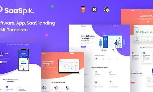 SaaSpik - Software, App, SaaS landing HTML Template