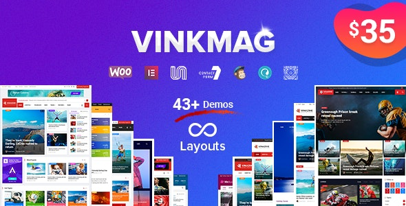 Vinkmag - Multi-concept Creative Newspaper News Magazine WordPress Theme - News / Editorial Blog / Magazine