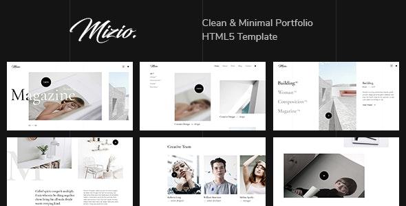 Mizio - Clean & Minimal Portfolio HTML5 Template - Portfolio Creative