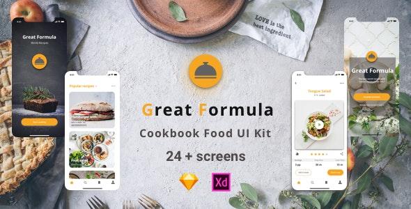 Great Formula - Set of UI Kit - Sketch Templates