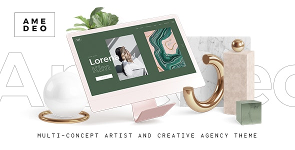 Amedeo Multi Concept Artist And Creative Agency Theme By
