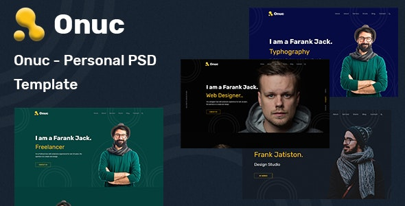 Onuc - Personal PSD Template - Personal Photoshop