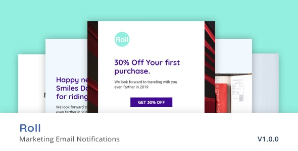 Roll - Email Marketing Notifications - Email Templates Marketing