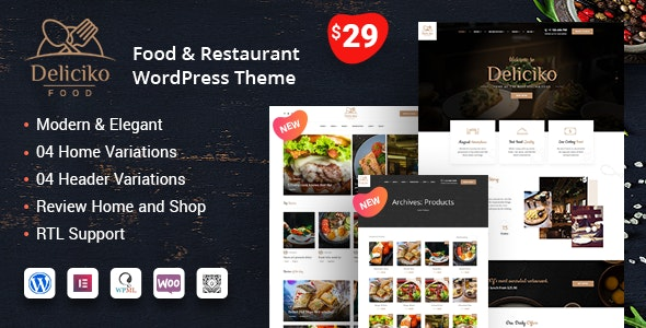 Deliciko Restaurant WordPress Theme By Tripples Themeforest