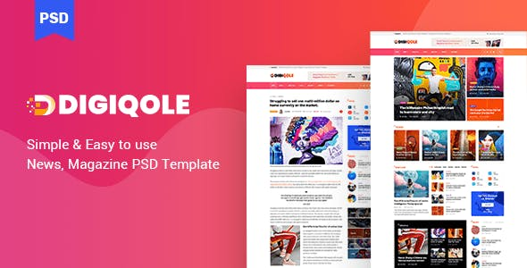 Digiqole - News Magazine PSD Template nulled theme download