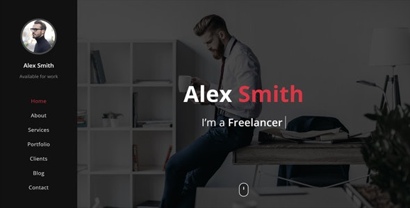 CodeX - Personal Portfolio / Resume / CV / vCard Template by Exill