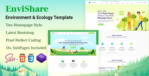 EnviShare- Environmental Ecology Responsive Template by LabArtisan
