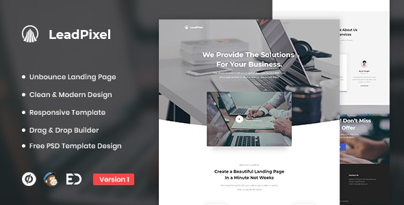 LeadPixel - Agency Unbounce Landing Page Template - Unbounce Landing Pages Marketing