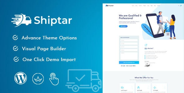 Shiptar - Transport & Logistics WordPress Theme - Business Corporate