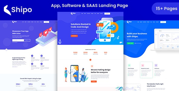 Shipo - App, Software & SAAS Landing Template - Software Technology