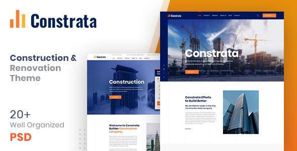 Constrata - Construction & Renovation PSD Template - Business Corporate