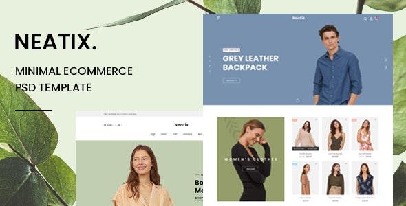 Neatix - Minimal eCommerce PSD Template - Fashion Retail