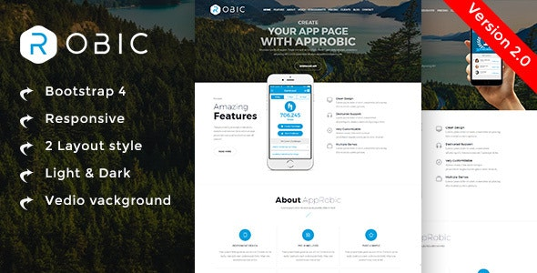 Robic - Multipurpose Landing Page Template - Technology Site Templates