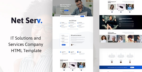 Netserv It Solutions And Services Company Html Template By Blue Design