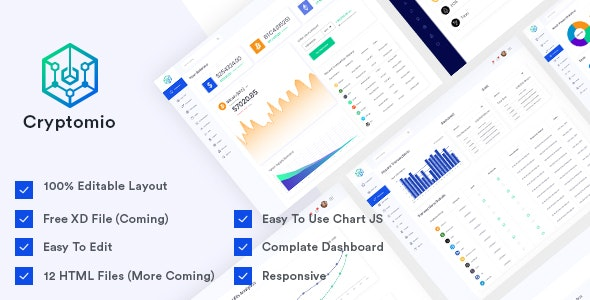 Cryptomio - Bootstrap 4 Admin Template by voidcoders | ThemeForest