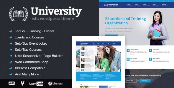 University - Education, Event and Course Theme by