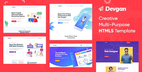 Devgan | Creative MultiPurpose HTML5 Template - Creative Site Templates