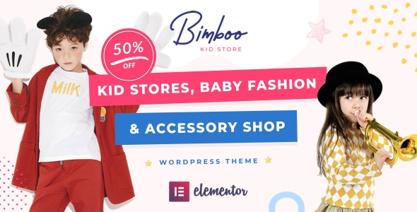 Bimboo - Elementor Kid WooCommerce WordPress Theme - eCommerce WordPress