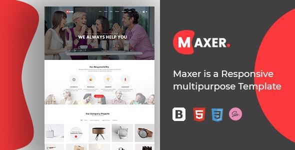 Maxer - Multi-Purpose HTML5 Template Responsive - Corporate Site Templates