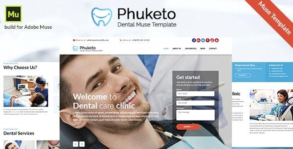 Phuketo - Dental Muse Template - Corporate Muse Templates